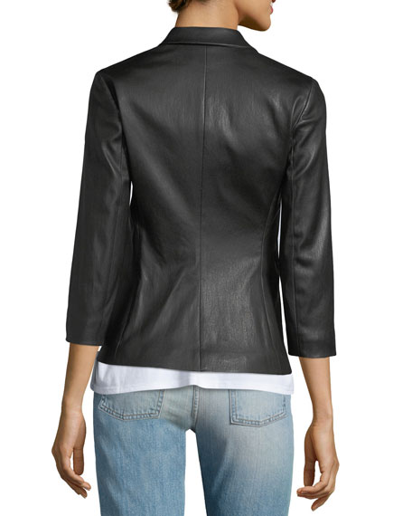 Image 2 of 3: THE ROW Nolbon Leather Jacket