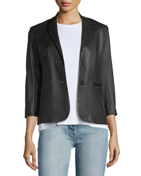 Image 1 of 3: THE ROW Nolbon Leather Jacket