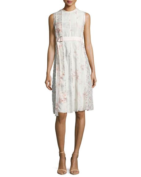 Calvin Klein Collection Sleeveless Watercolor Floral Dress, Light