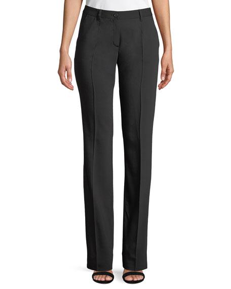 Dolce & Gabbana Mid-Rise Straight-Leg Wool Pants