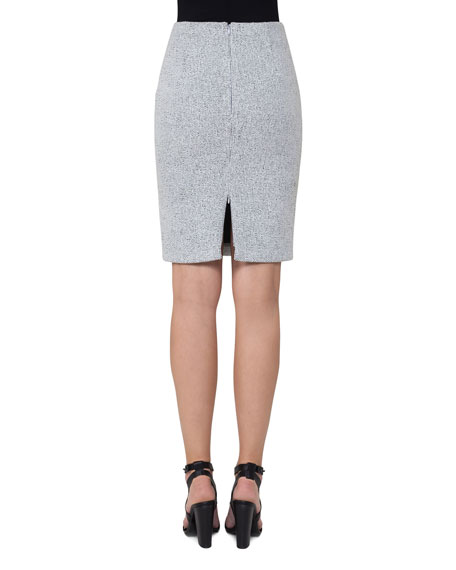 Knitted Tweed Pencil Skirt, Multi Pattern