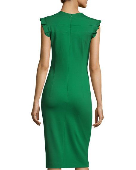 Diamond-Smock Sleeveless Sheath Dress