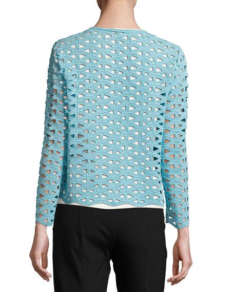 Macramé Lace Long-Sleeve Jacket