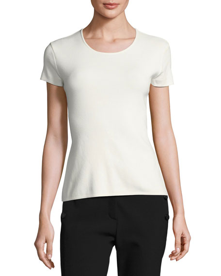Escada Round-Neck Short-Sleeve Tee and Matching Items