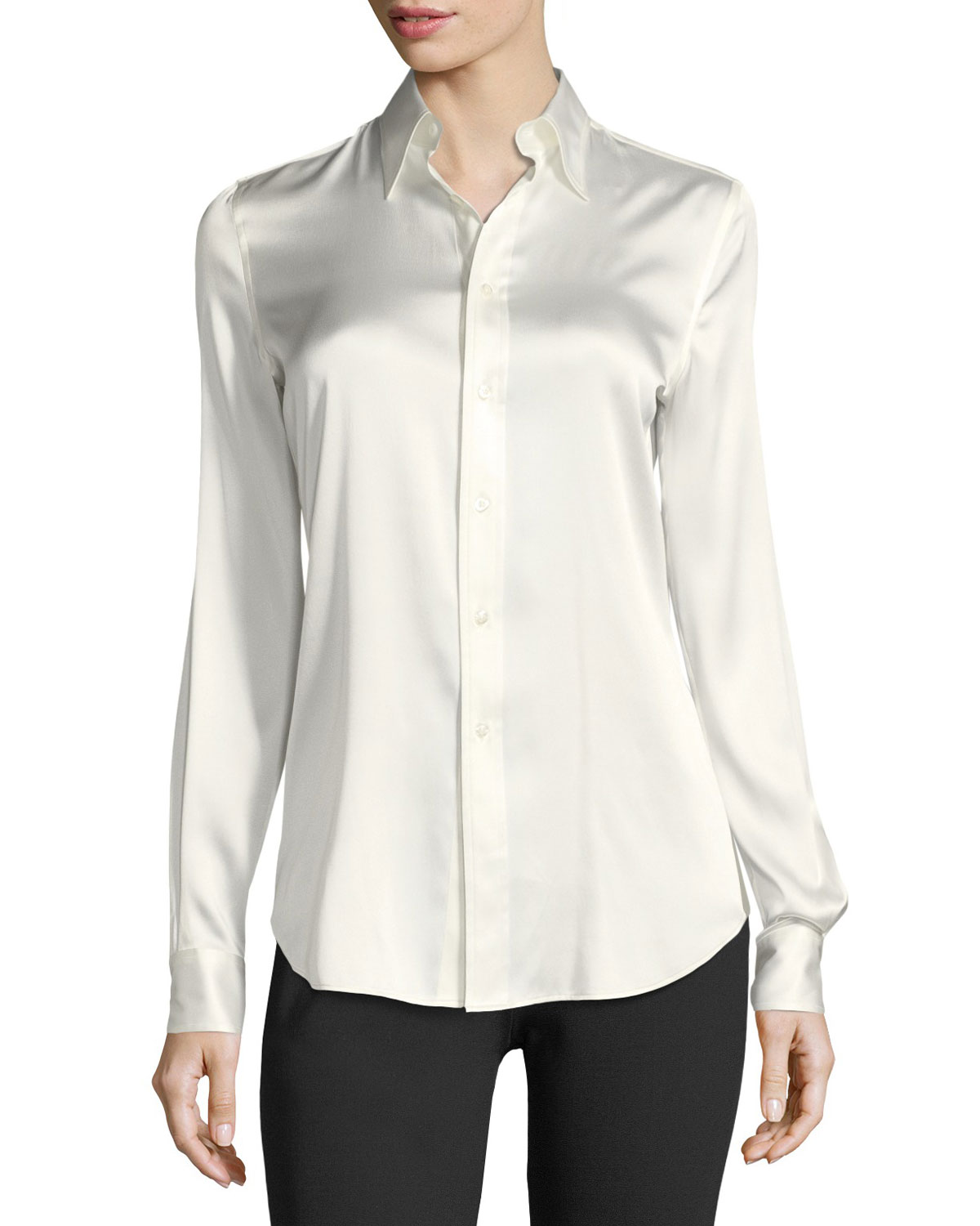 9c39082d68 Ralph Lauren Collection Cindy Stretch-Charmeuse Blouse and Matching ...