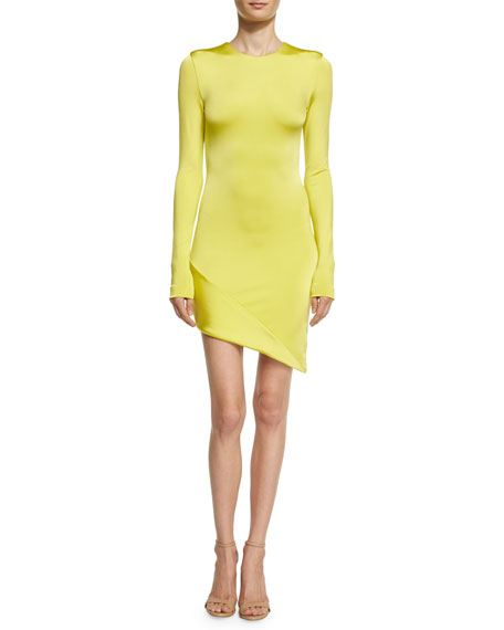 Cushnie Et Ochs Lola Asymmetric Long-Sleeve Minidress