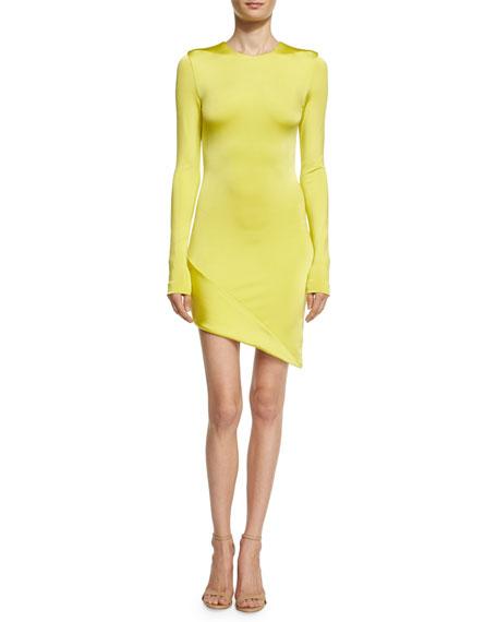 Lola Asymmetric Long-Sleeve Minidress