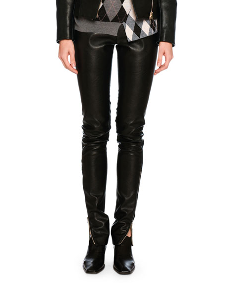Stella McCartney Darcelle Faux-Leather Trousers, Black and