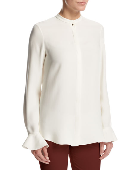 Loro Piana Convent Garden Lace Cashmere-Silk Sweater, Gray