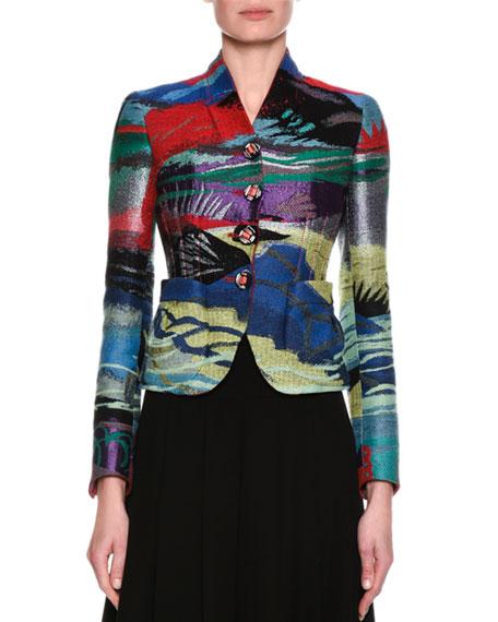 Giorgio Armani Peruvian Jacquard Jacket, Multicolor