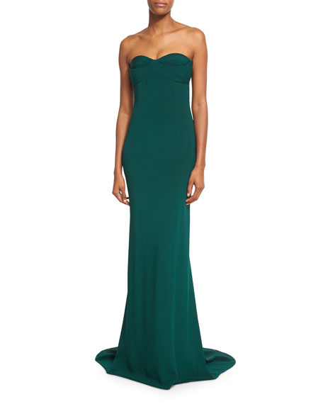 Strapless Gown with Layered Bodice