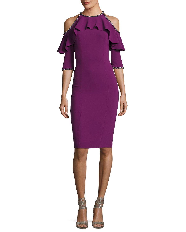 Beaded Cocktail Dress | Neiman Marcus