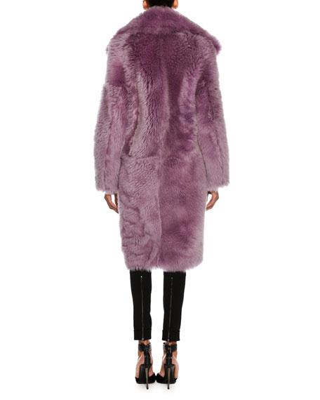 Oversized Teddy Shearling Fur Coat, Lavender