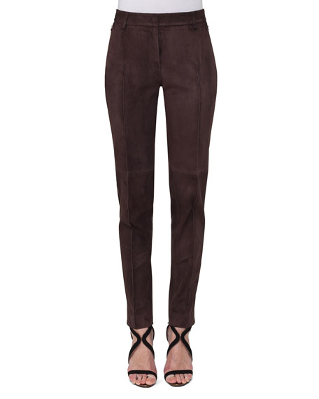 Akris Melvin Suede Skinny Pants and Matching Items