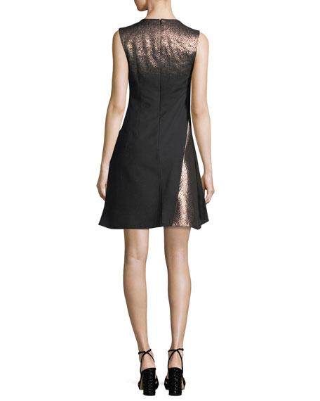 Metallic A-Line Cocktail Dress