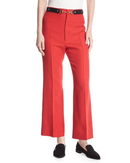 Gucci Wool-Silk Horsebit Pants