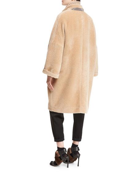 Textured Knit Alpaca Car Coat