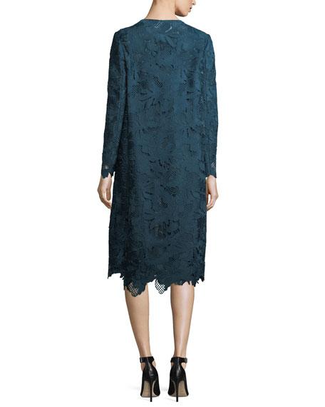 Floral Guipure Lace Coat