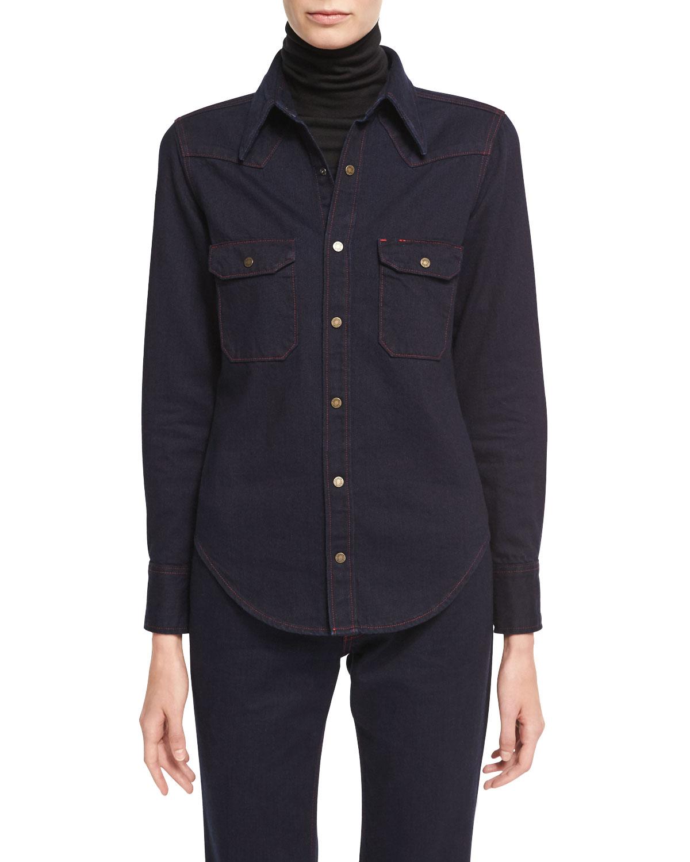 Quick Look. CALVIN KLEIN 205W39NYC · Slim Denim Western Shirt