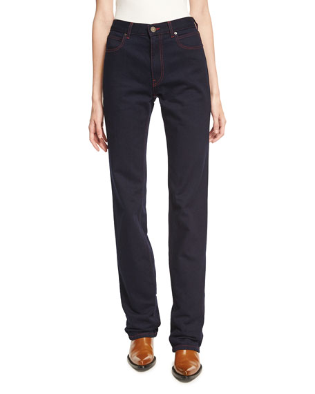 CALVIN KLEIN 205W39NYC High-Rise Straight-Leg Jeans and Matching