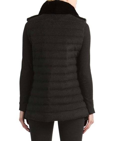 Mink Fur Vest with Quilted Back