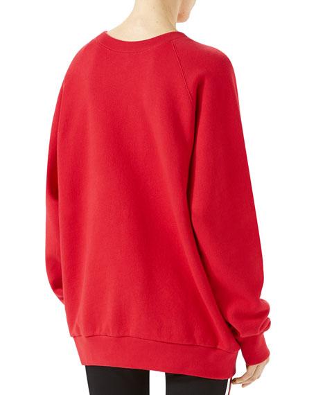 Jersey Sweatshirt with UFO Appliqu&#233