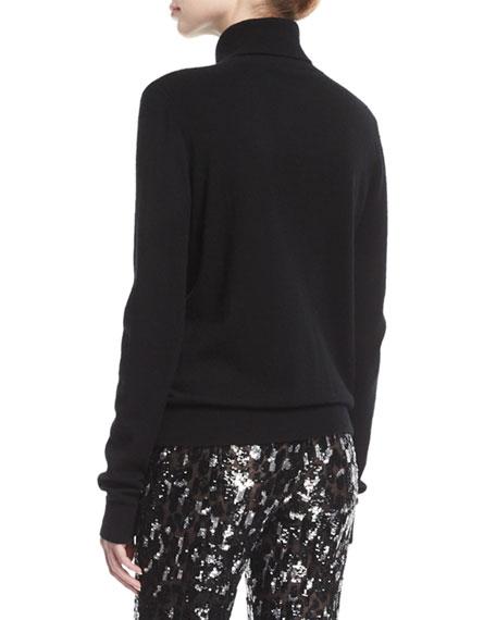 Cashmere Cutout Turtleneck Sweater