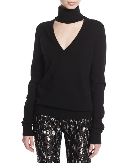 Michael Kors Collection Cashmere Cutout Turtleneck Sweater