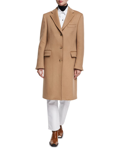 Double-Face Virgin Wool Single-Breasted Coat