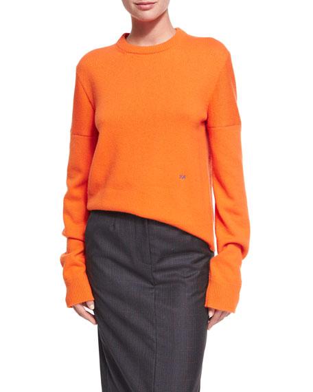 CALVIN KLEIN 205W39NYC Plaid Wool-Silk Midi Skirt and