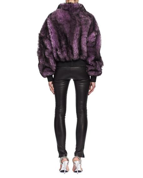 Dyed Lamb Shearling Fur Coat