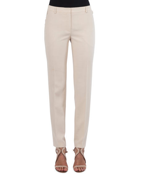Melvin Straight-Leg Wool Pants