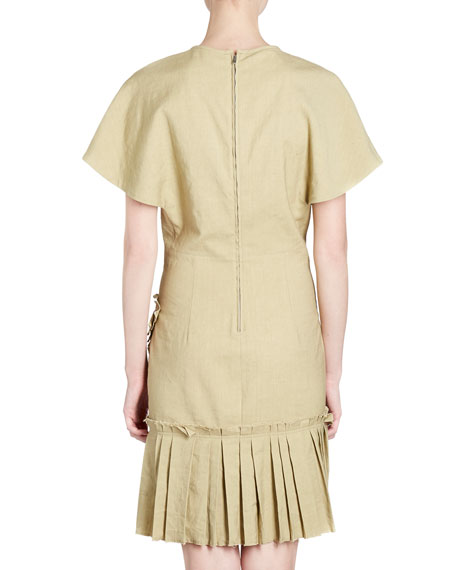 Rimba Crewneck Short-Sleeve Poplin Dress