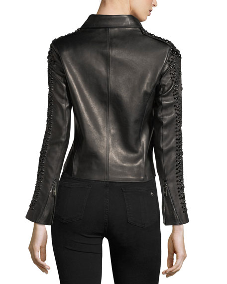 Saturday Studded Leather Jacket