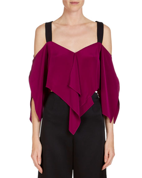 Bach Cropped Handkerchief-Hem Top