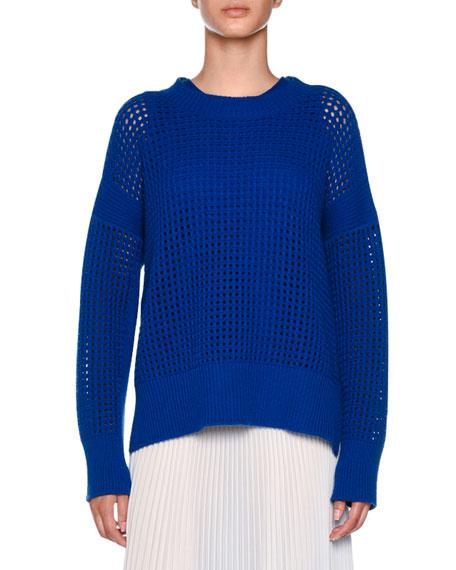 Crewneck Sleeveless Cashmere Knit Top