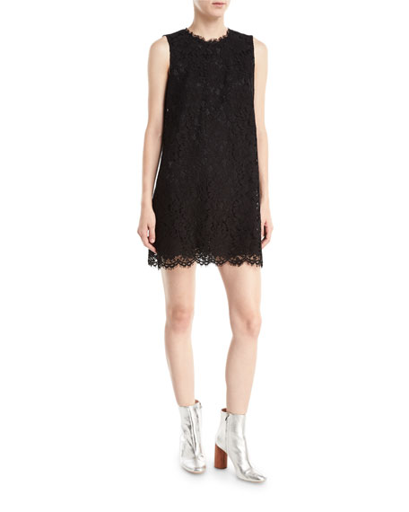Dolce & Gabbana Sleeveless Lace Shift Mini Dress