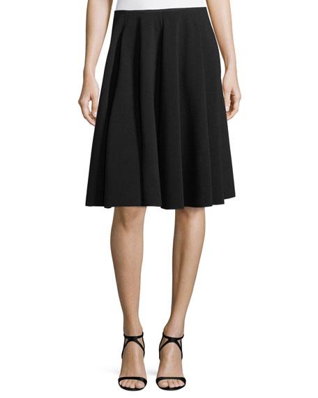 Emporio Armani A-Line Ottoman-Rib Skirt