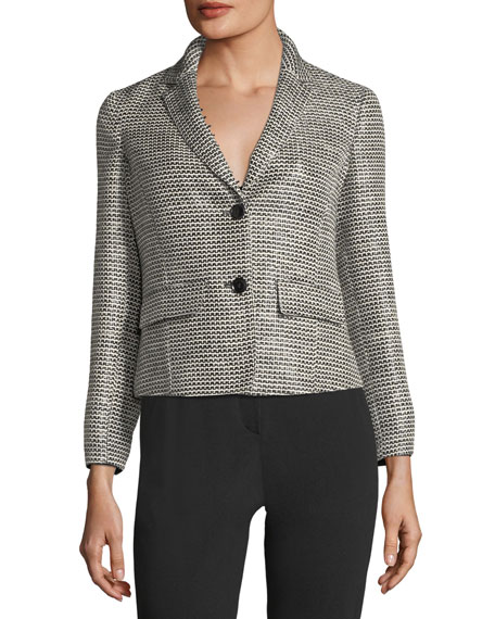Two-Button Tweed Jacket