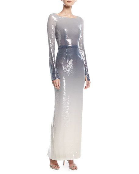Pamella roland scoop neck long sleeve sequin column evening gown pamella roland scoop neck long sleeve sequin column evening gown neiman marcus junglespirit Gallery