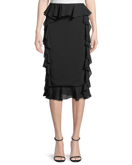Cushnie Et Ochs Romina Pencil Skirt with Georgette
