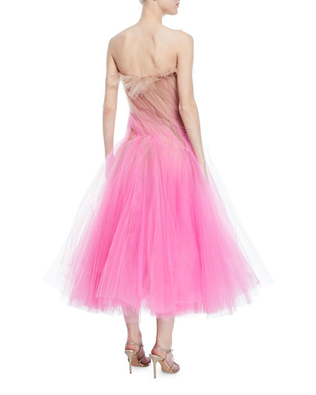Strapless Tulle Cocktail Dress