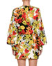 Floral-Print Cady Crepe Robe Wrap Dress
