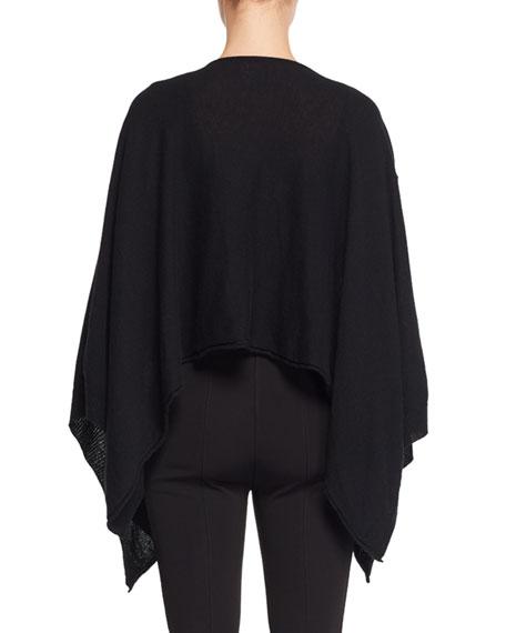 Merlo Round-Neck Fine Cashmere Poncho Sweater