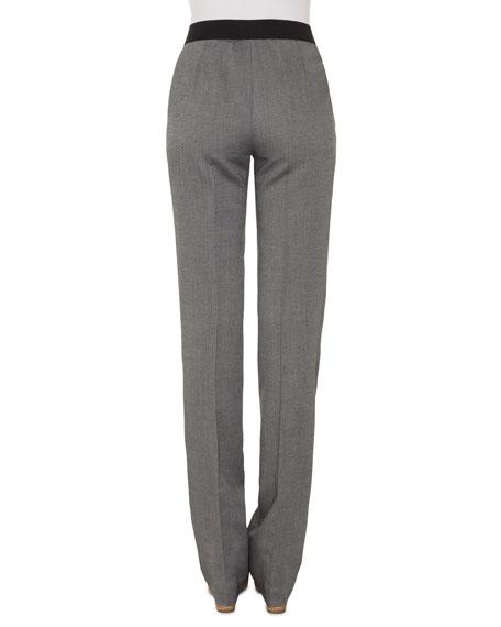 Akris Carl Cashmere/Silk Straight-Leg Pants