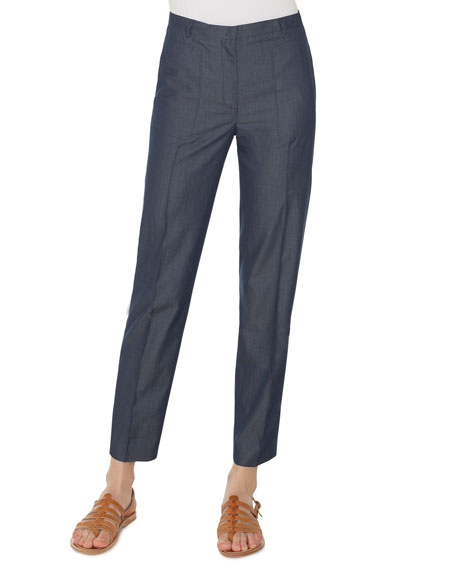 Colin Straight-Leg Cotton Pants