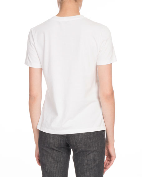 Crewneck Short-Sleeve Logo-Print Tee