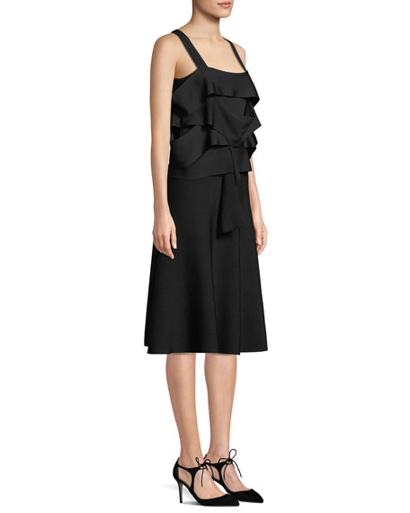 Derek Lam Sleeveless Draped Panel Dress