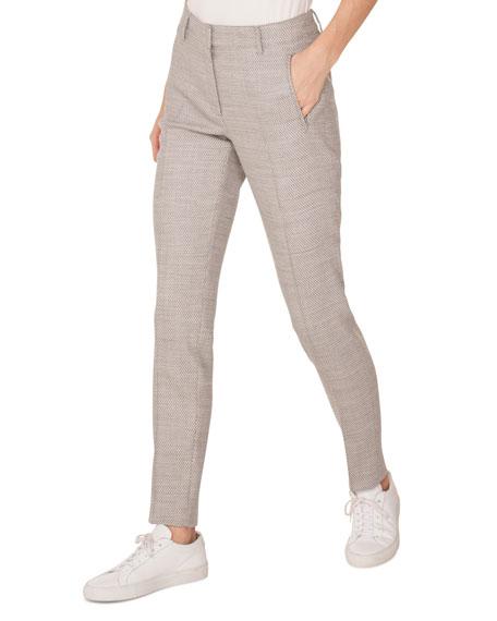 Fabia Skinny Wool Birdseye Pants