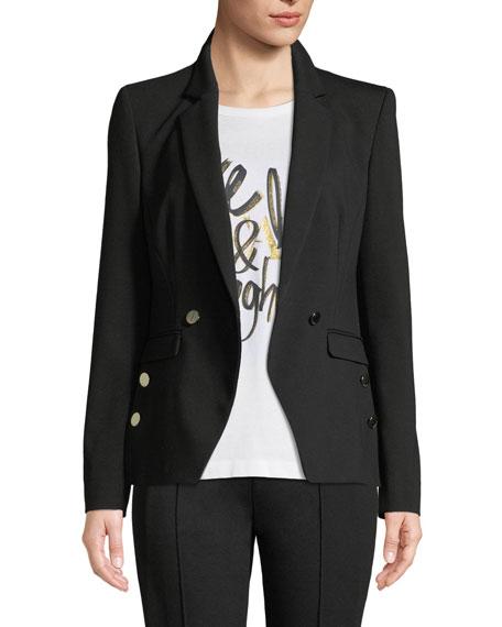 Escada Double-Breasted Jersey Jacket